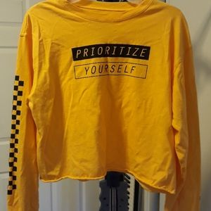 Prioritize yourself yellow top